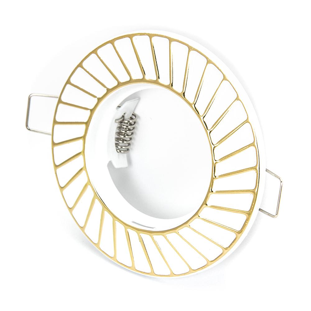 FORZA Светильник встраиваемый штампованный, № 31 лампа MR16, цоколь GU 5.3, d 90x22мм, железо