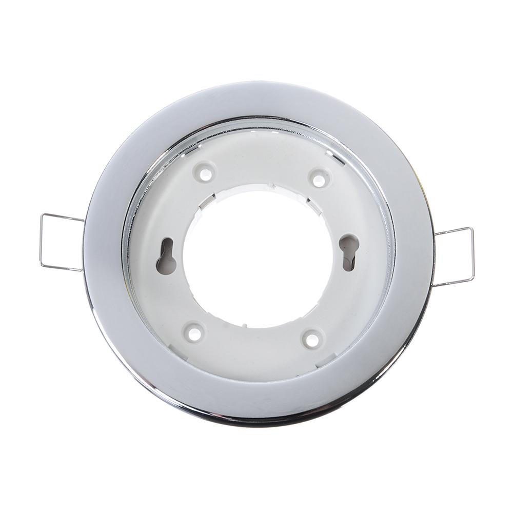 FORZA Светильник встраиваемый № 34 цоколь GX 53, d 102 мм, железо, цвет хром