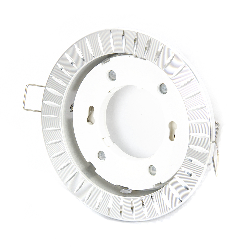 FORZA Светильник встраиваемый № 37 цоколь GX 53, d 110x30мм, серебристый, алюминий