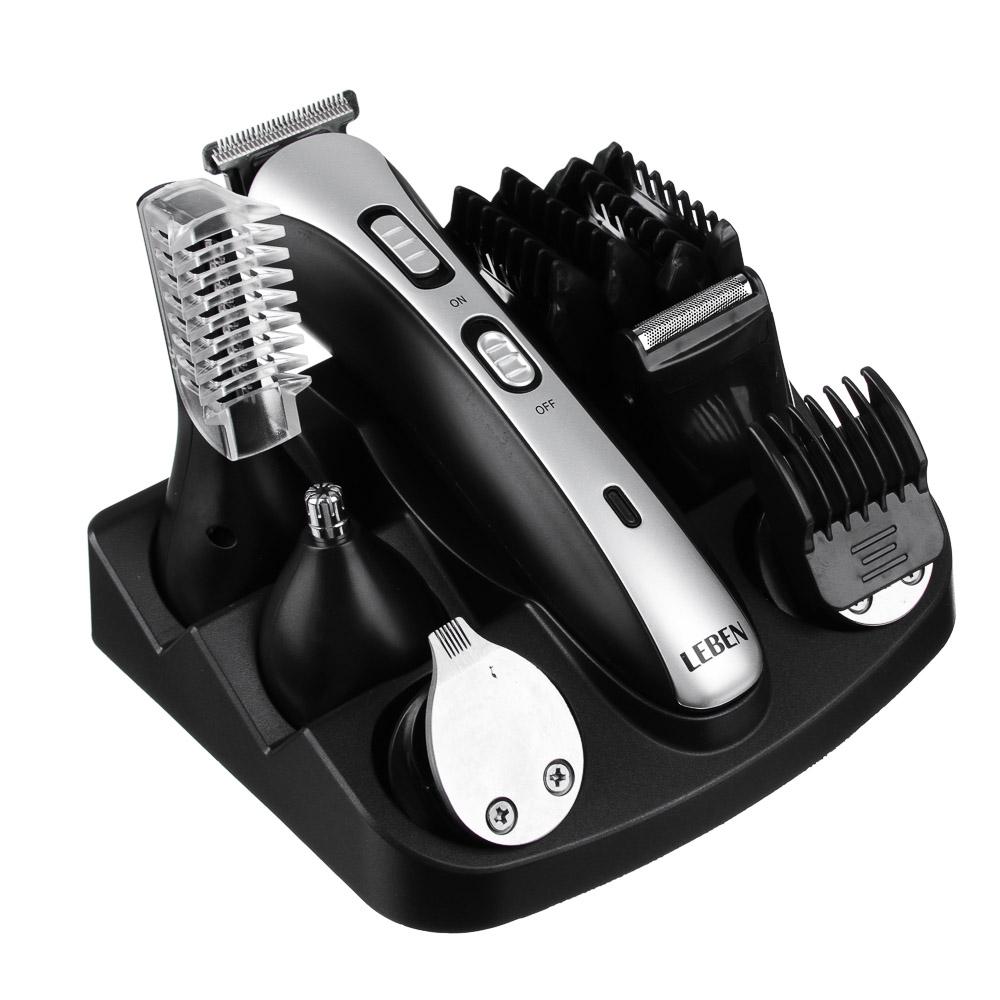 LEBEN Набор для стрижки 10 в 1, с бритвой, триммером, расческой и машинкой для стрижки, HC752