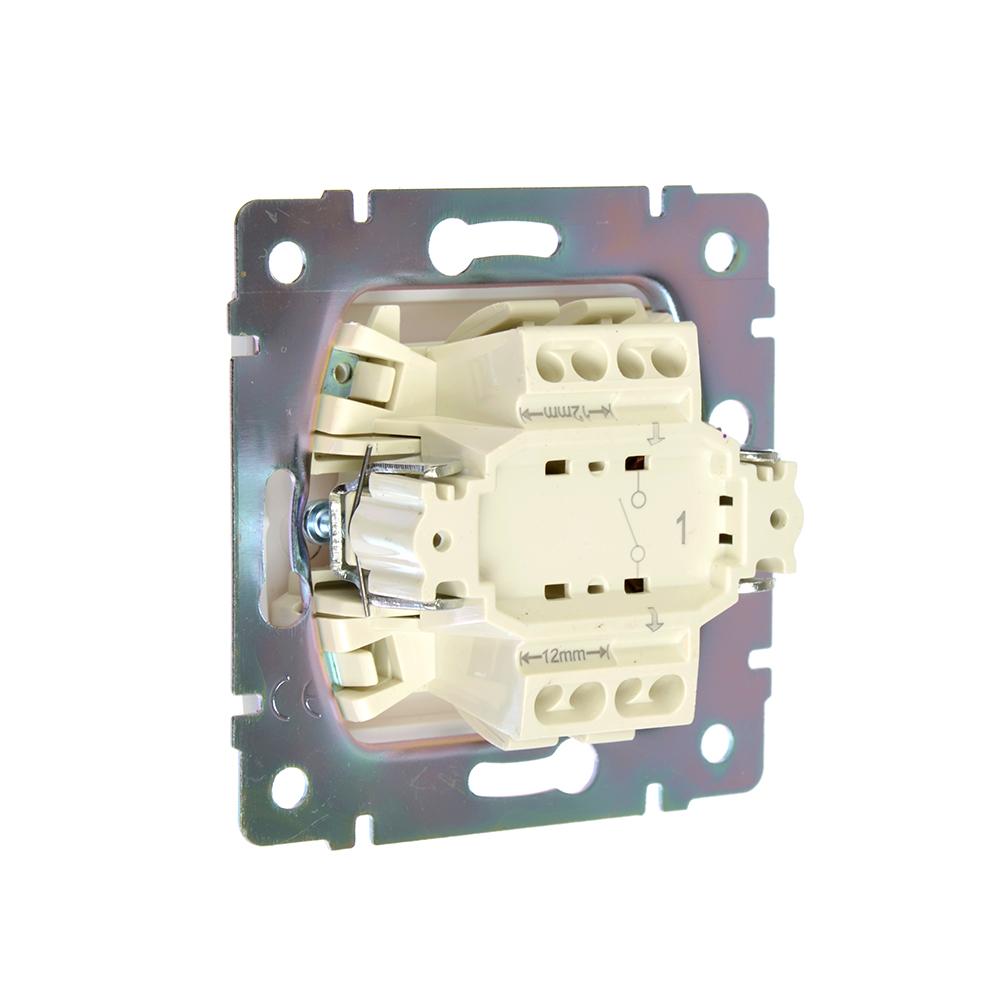 FORZA Элит Выключатель одноклавишный цвет белый 10А 250В пластик ABS
