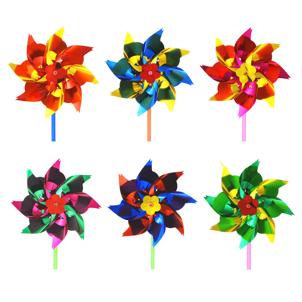 ИГРОЛЕНД Ветрячок детский, 14-16см, пластик, 27х17,5см, 2-4 цвета