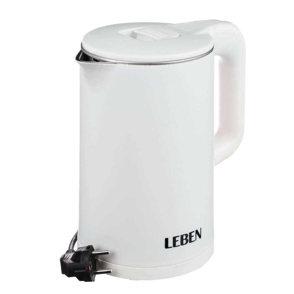 LEBEN Чайник электрический 1,7л, 1850Вт, нерж сталь, терморисунок 1