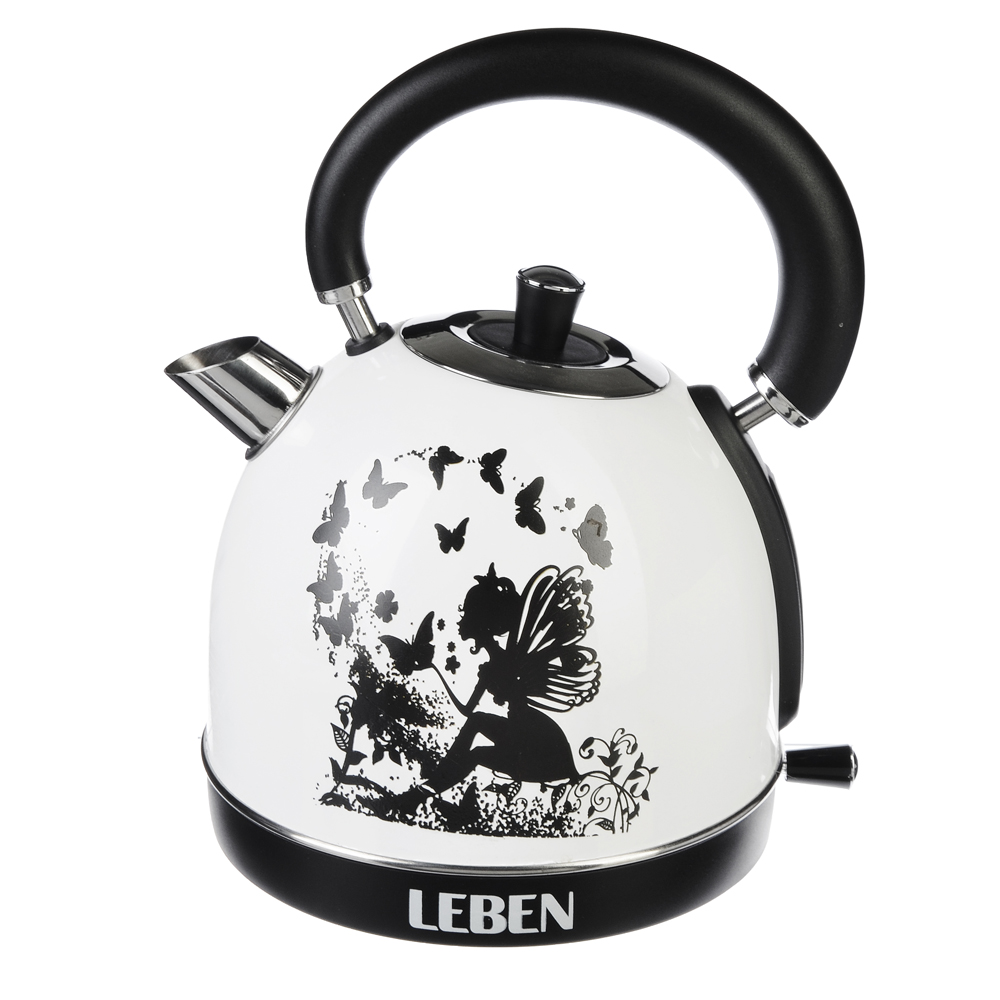 LEBEN Чайник электрический 1,8л, 1850Вт, нерж сталь, терморисунок 2