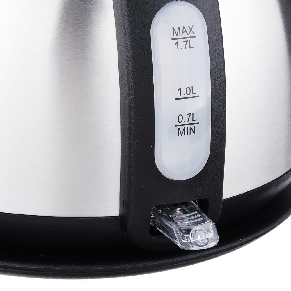 Чайник электрический 1,7 л LEBEN, 1850 Вт, нержавеющая сталь, термометр