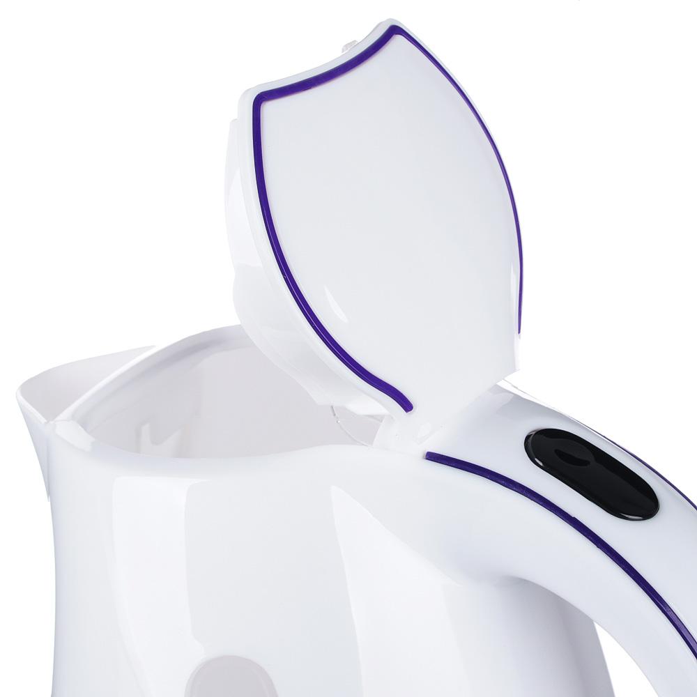 Чайник электрический 1,7 л LEBEN, 1850 Вт, пластик, белый
