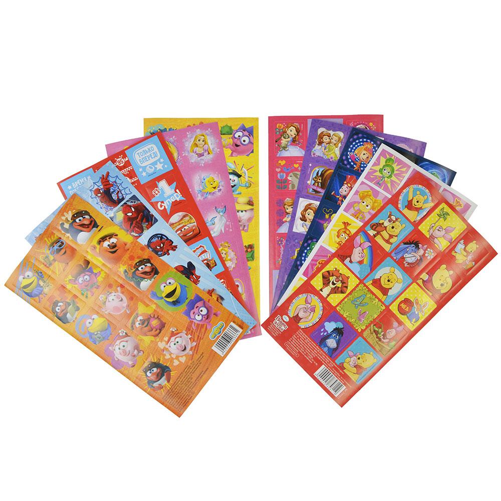 Набор декоративных наклеек Мультгерои, бумага, 15х8, 10 дизайнов