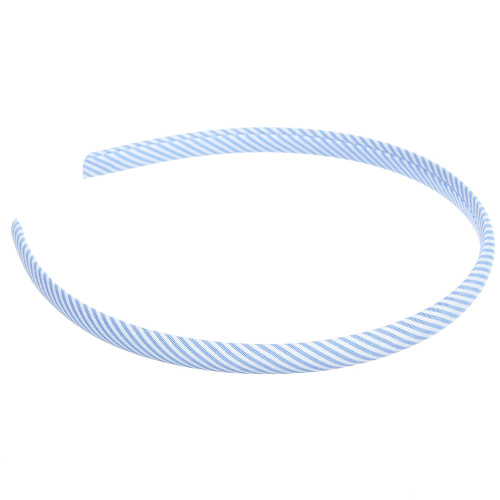 Ободок для волос, полиэстер, пластик, ширина 1 см, 6 цветов
