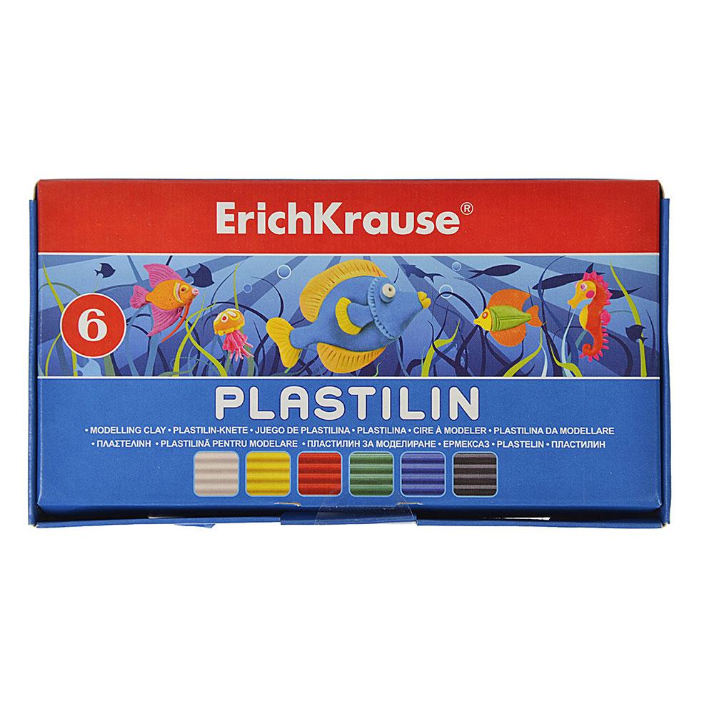 Erich Krause Пластилин 6 цветов 108 грамм в картонной упаковке со стеком, 36900