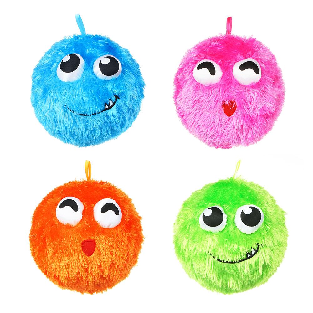 МЕШОК ПОДАРКОВ Мяч надувной Пушистик 21см, полиэстер, резина, 21,5х21,5см, 2 дизайна, 2-4 цвета