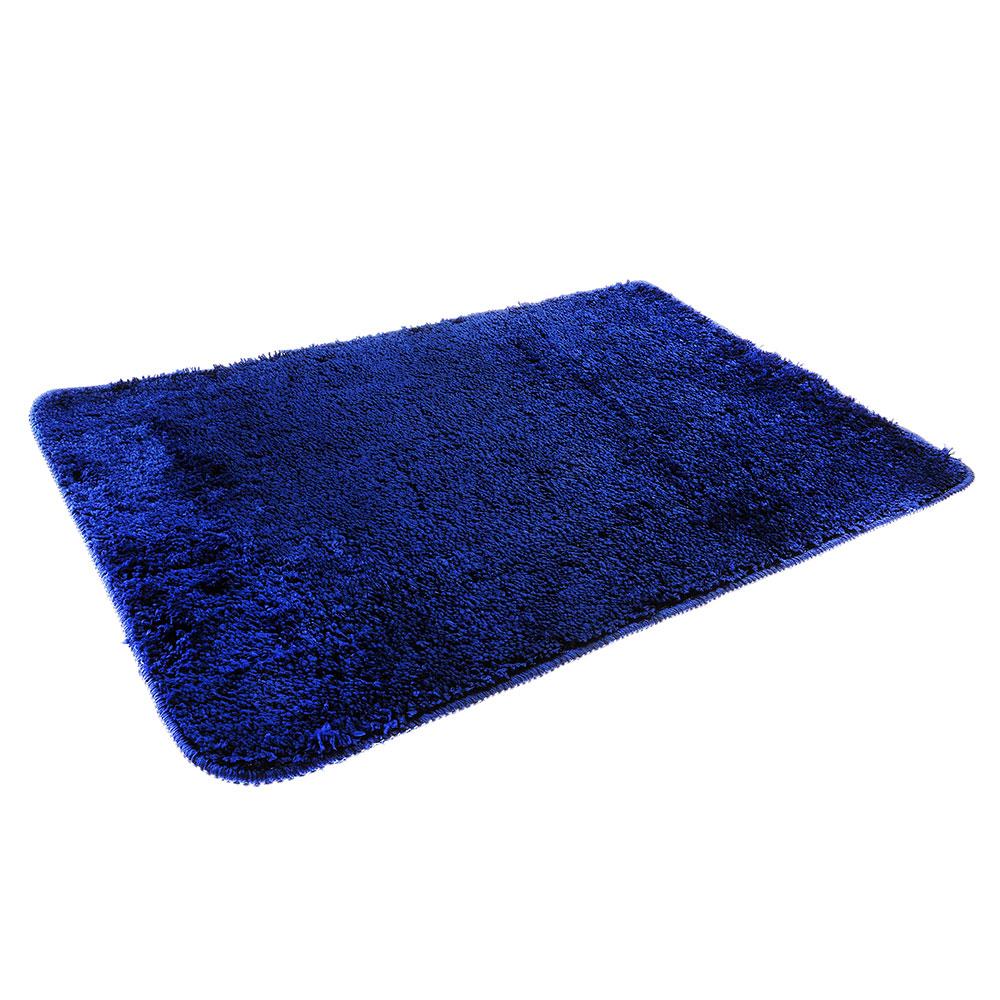 SonWelle Коврик для ванной МЯГКИЙ 50х75см микрофибра синий
