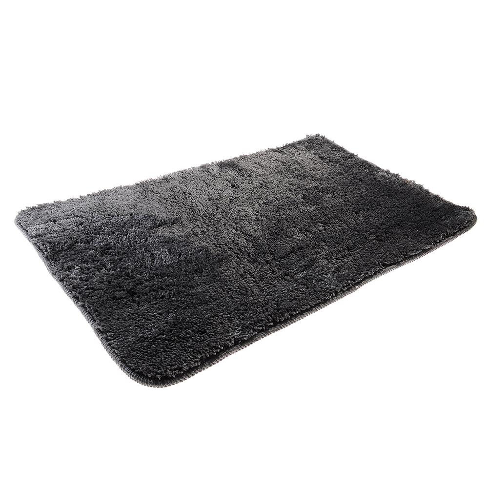 SonWelle Коврик для ванной МЯГКИЙ 50х75см микрофибра серый