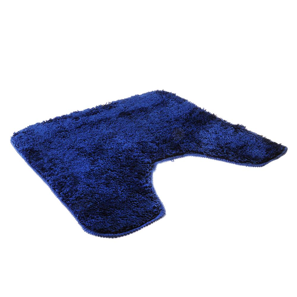 SonWelle Коврик для туалета МЯГКИЙ 50х50см микрофибра синий