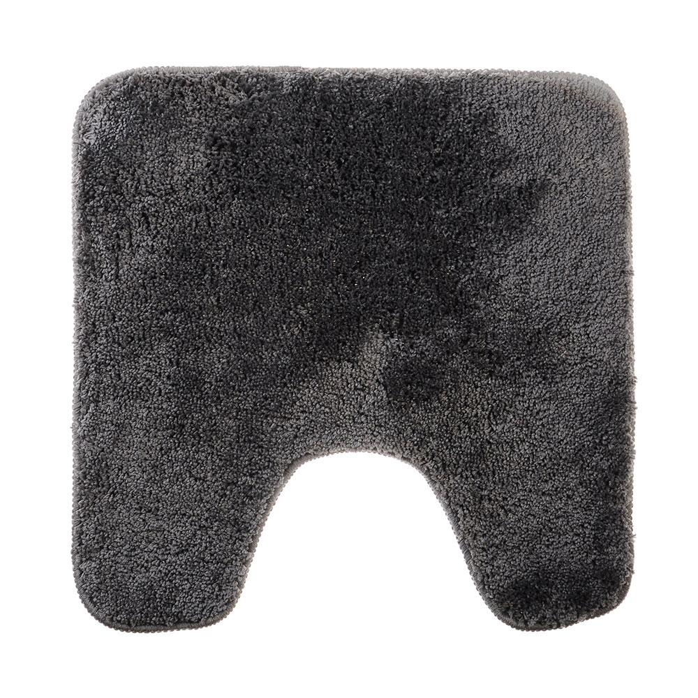 SonWelle Коврик для туалета МЯГКИЙ 50х50см микрофибра серый