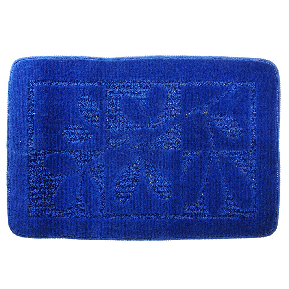 SonWelle Коврик для ванной ВЕТКА 50х70см полипропилен синий