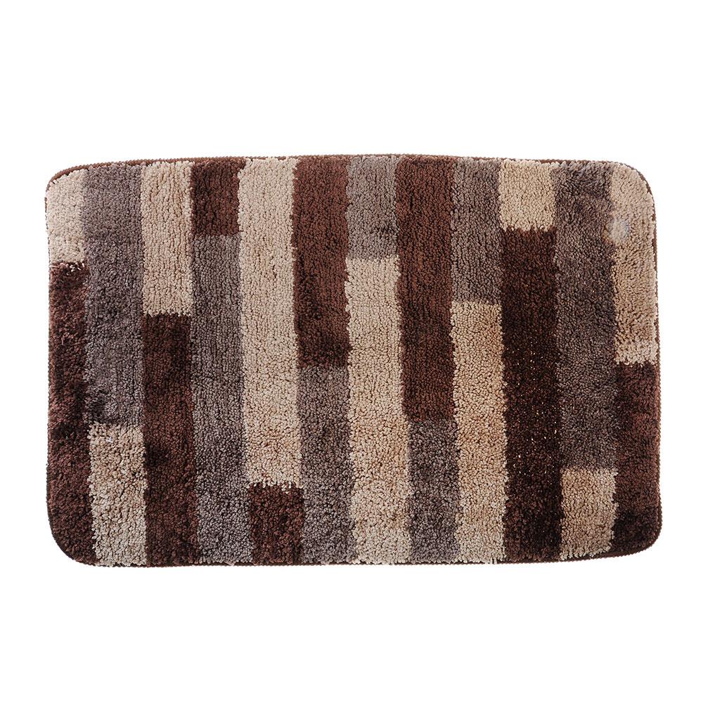 SonWelle Коврик для ванной ПОЛОСКА 50х75см микрофибра коричневый