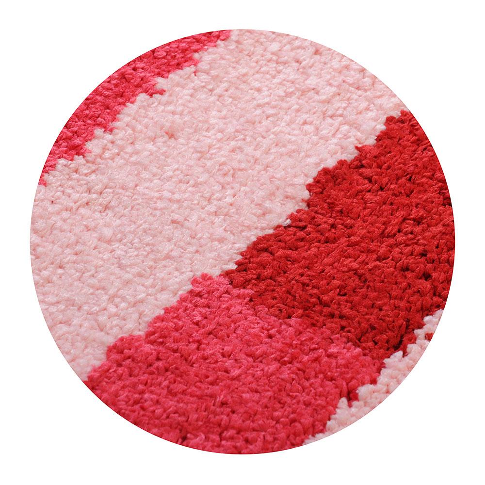 SonWelle Коврик для ванной ПОЛОСКА 50х75см микрофибра розовый