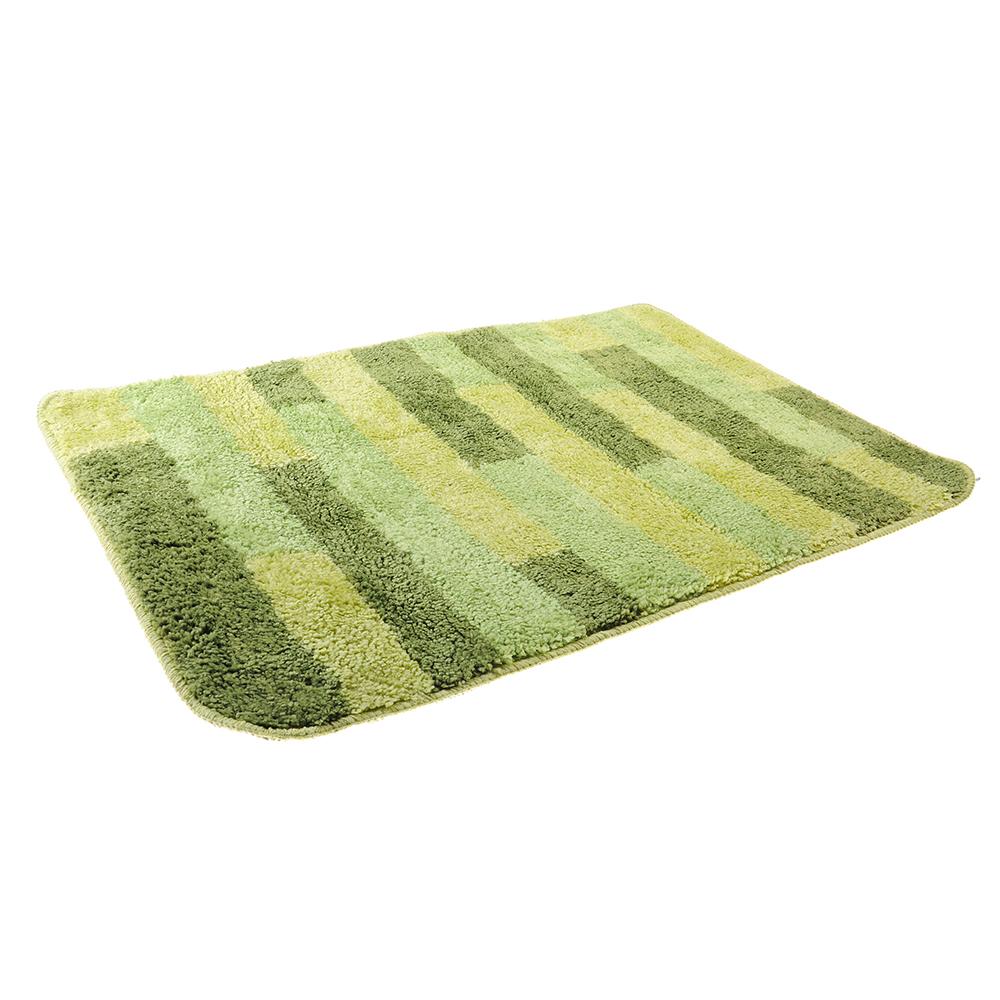 SonWelle Коврик для ванной ПОЛОСКА 50х75см микрофибра зеленый