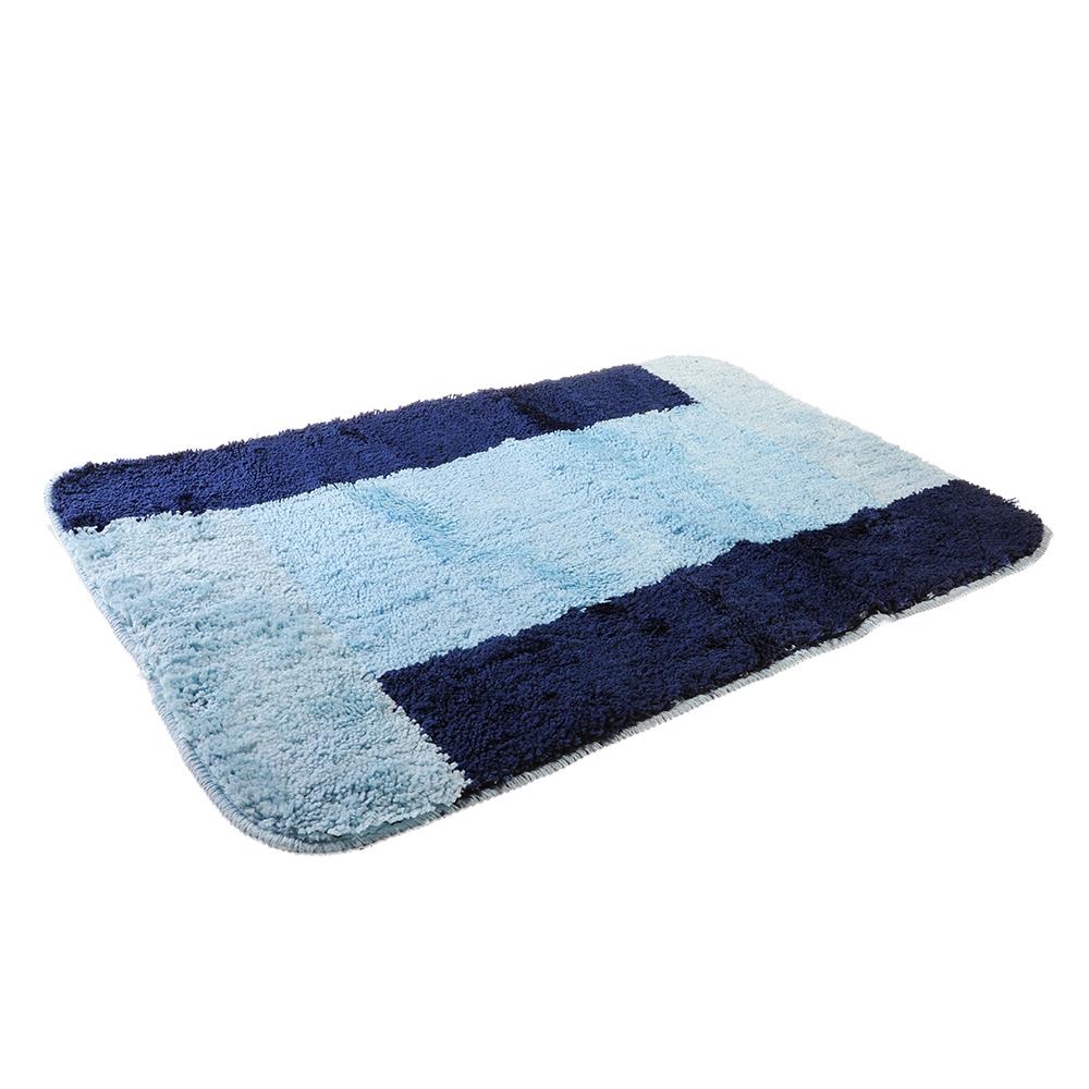SonWelle Коврик для ванной ОТТЕНОК 50х75см микрофибра синий