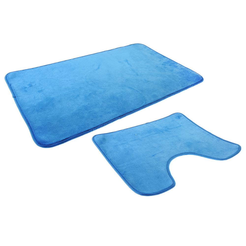 SonWelle Набор ковриков для ванной КОРАЛ 75х45см + 45х40см микрофибра 2 цвета