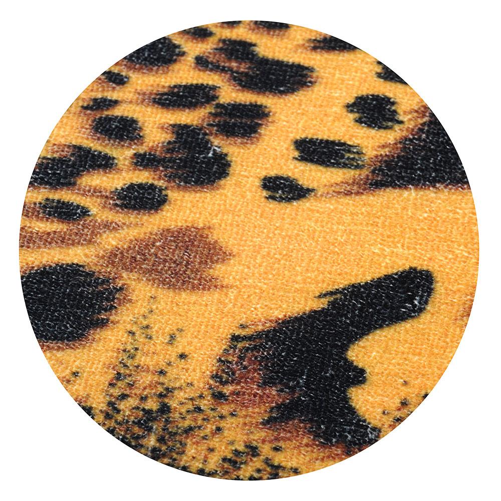 SonWelle Коврик для ванной САФАРИ флис, принт, губка, 0,8см, 40x60см