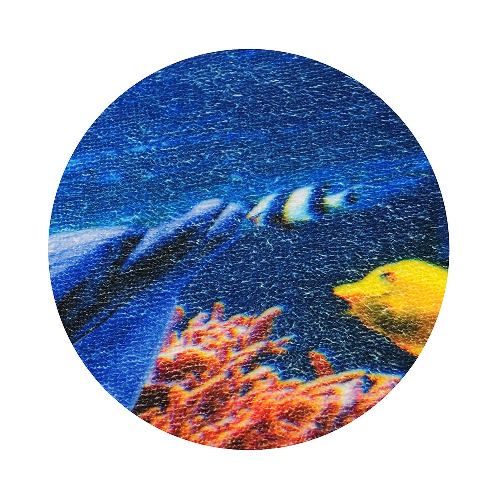 SonWelle Коврик для ванной ДЕЛЬФИНЫ флис, принт, губка, 0,4см, 50x80см
