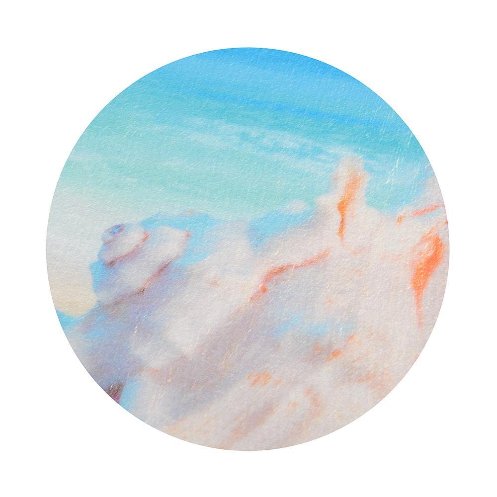 SonWelle Коврик для ванной ПЛЯЖ флис, принт, губка, 1,2см, 50x80см