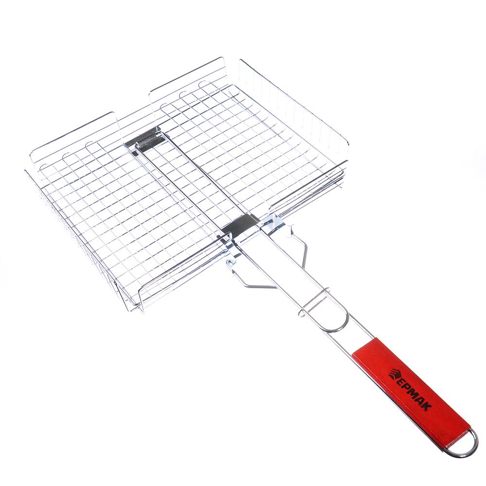ЕРМАК Решётка-гриль универсальная 59(+4)*(31.5x27.5x6)cм, съёмная ручка
