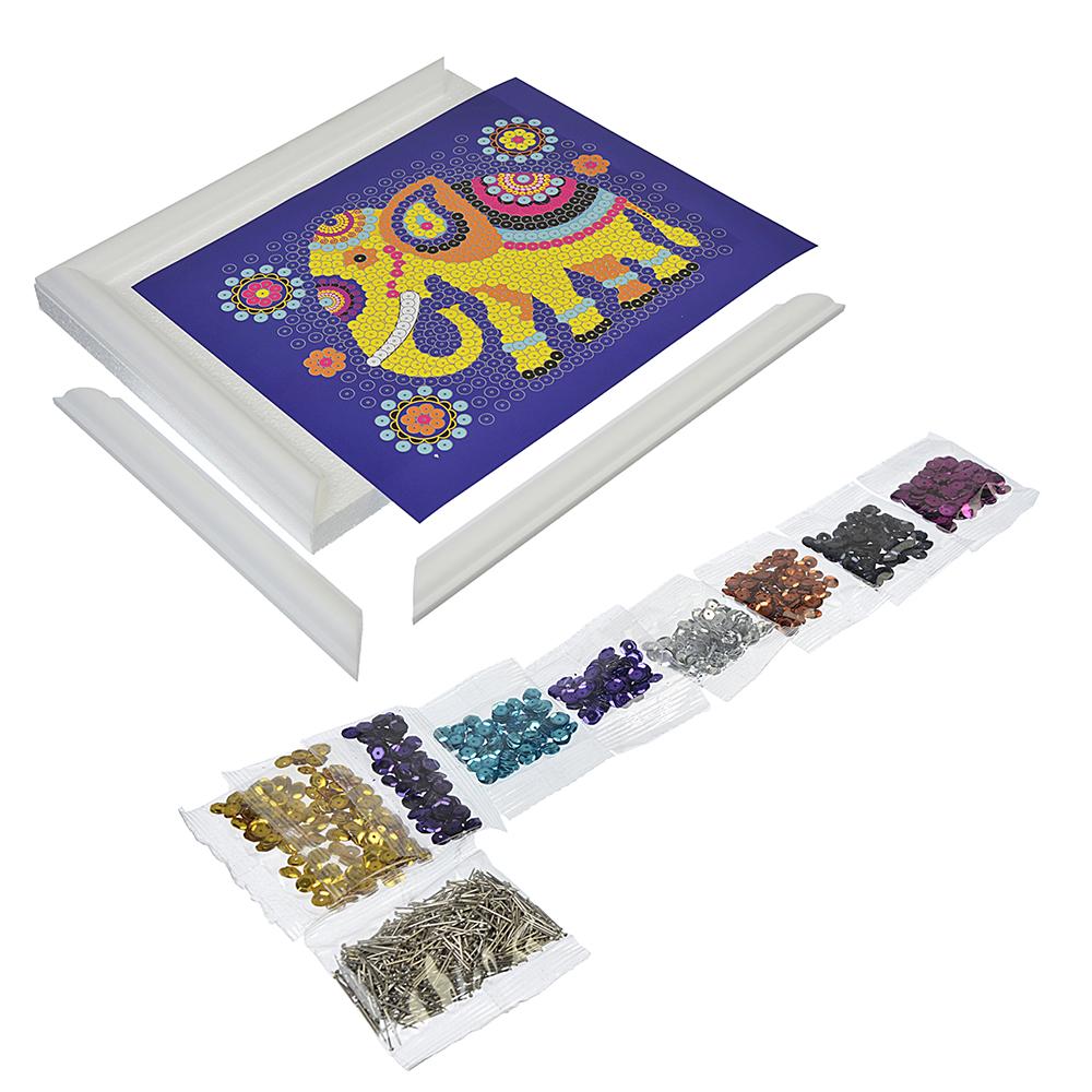 ЛОРИ Картина из пайеток, 6 пр., картон, пенопласт, металл, 11х15х4см, 3 дизайна