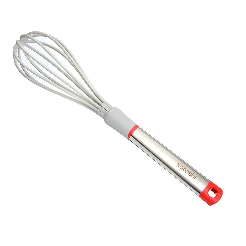 Венчик жаропрочный нейлон, ручка нержавеющая сталь/пластик, Премьер SATOSHI