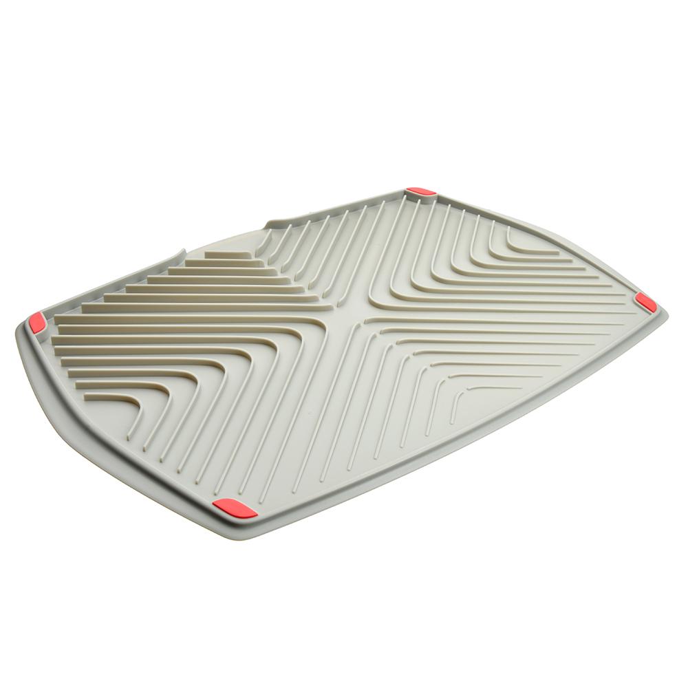 Поднос для сушки посуды, с нескользящей поверхностью двусторонний, Премьер SATOSHI