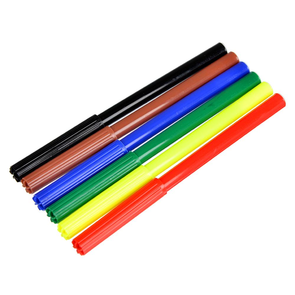 Набор фломастеров, 6 цветов, с цветным колпачком, ДЖИНС