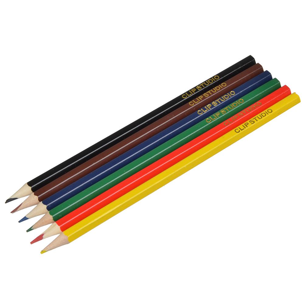 Цветные карандаши, 6 цветов, заточенные, НОЧНЫЕ ГОНКИ
