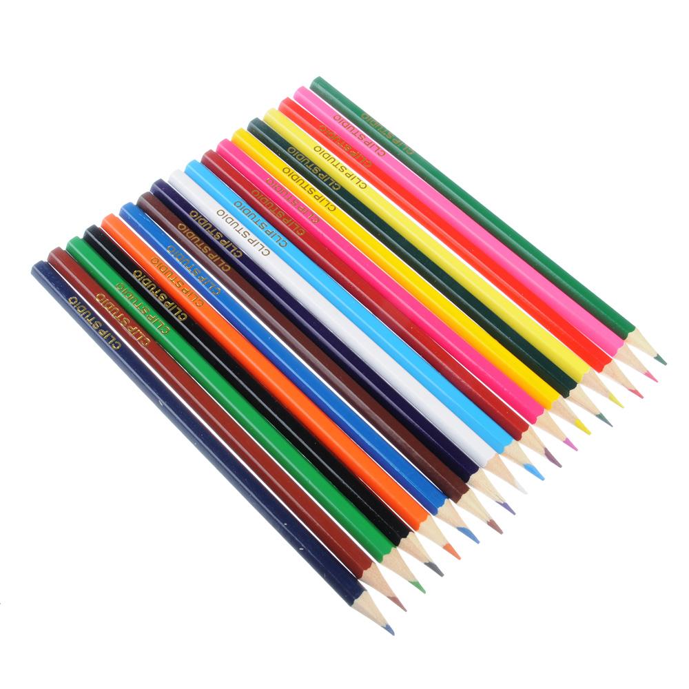 Цветные карандаши, 18 цветов, заточенные, ДЖУНИОР ФУТБОЛ