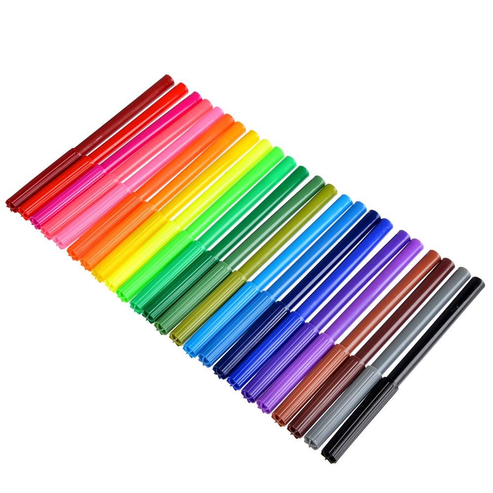 ДЖУНИОР ФУТБОЛ Фломастеры 24 цвета с цветным вентилируемым колпачком, в ПВХ пенале с подвесом