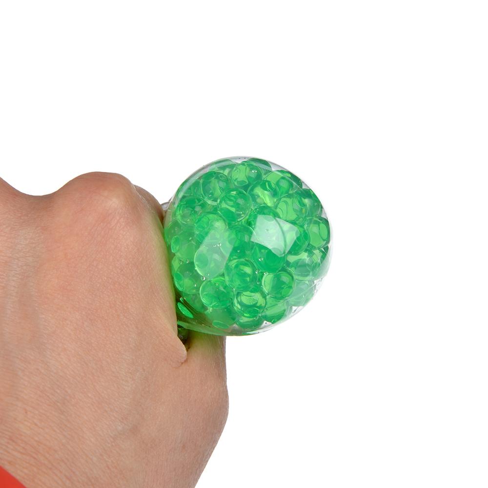 Мялка в виде Лягушки с шариками, резина, 8,5х7х1,3см, 4-6 цветов