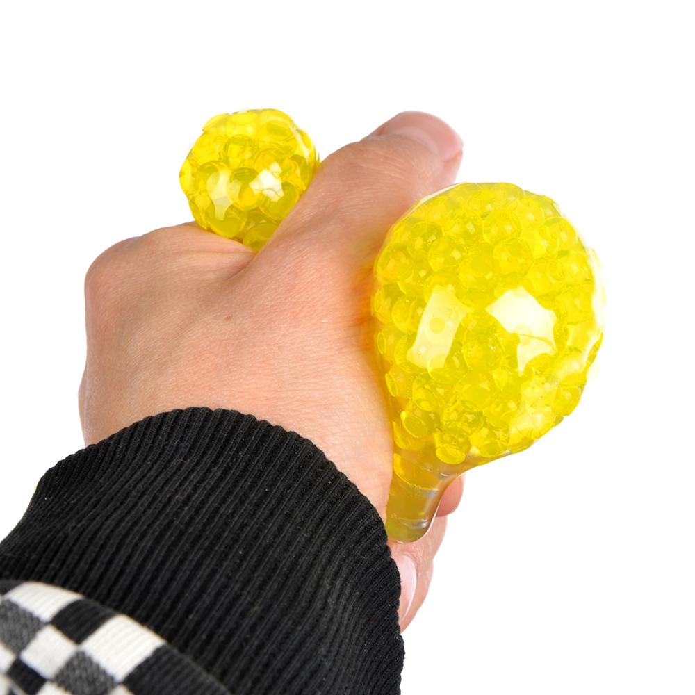 Мялка в виде Лампочки с шариками, резина, 5х8х5см, 6 цветов