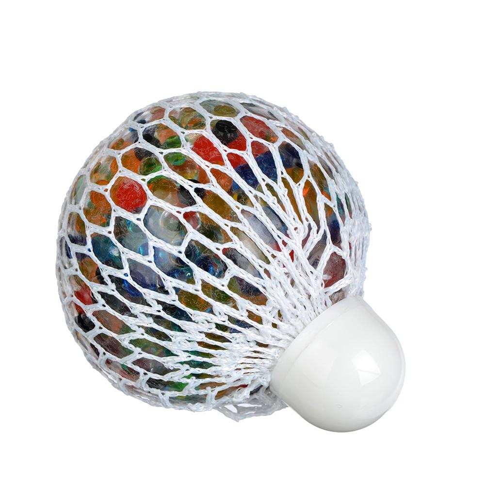 Мялка с шариками, резина, 7х7х7см, 6 цветов