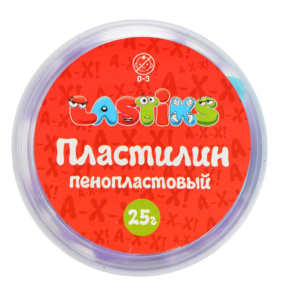 Пенопластовый пластилин, 25г , полимер, 9х9х4,5см, 6 цветов