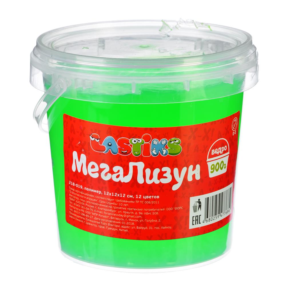 МегаЛизун, ведро 900г, полимер, 12х12х12 см, 12 цветов
