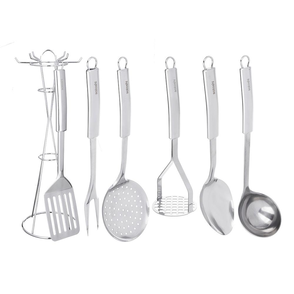 SATOSHI Альфа Набор кухонных принадлежностей 7 пр. нерж. сталь