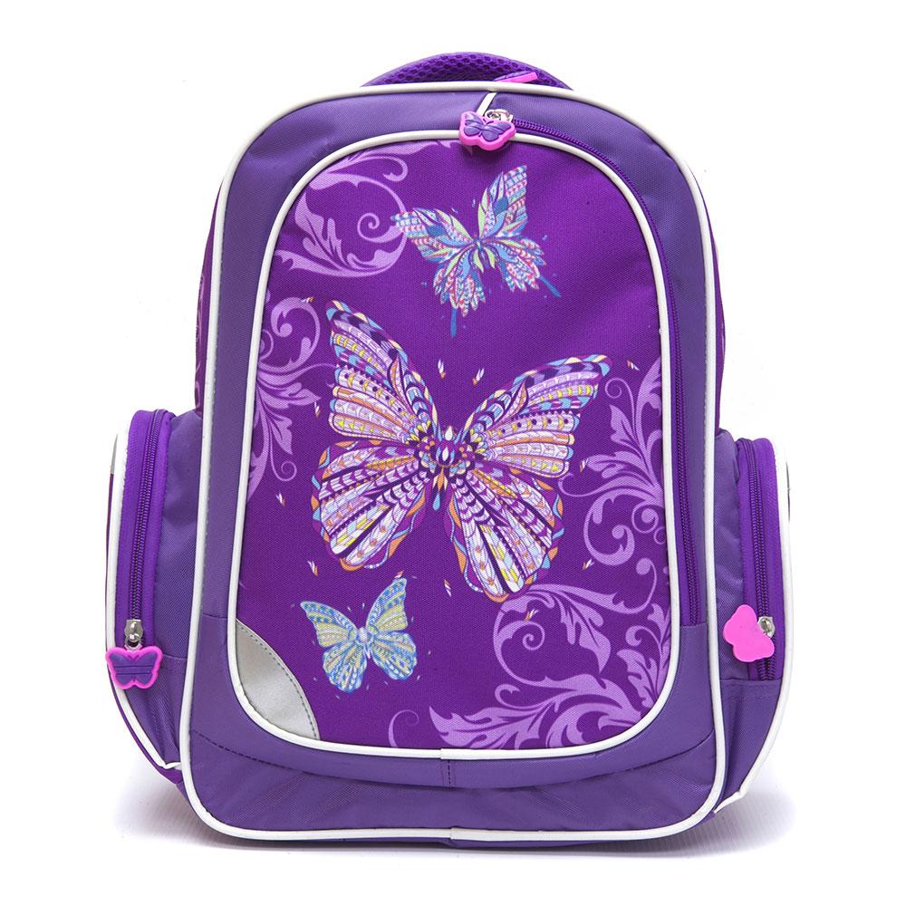 Рюкзак школьный для девочки, 38x32x18 см, КРЫЛАТЫЕ ЦВЕТЫ-2
