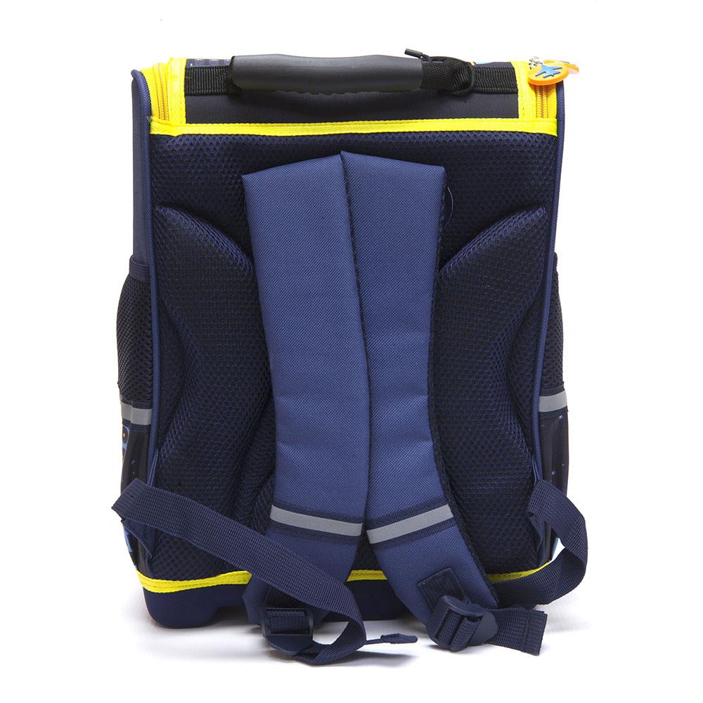 Школьный ранец для мальчика, 35x26x20см, жесткий каркас, формованное дно,  ЗВЕЗДНЫЙ ДЕСАНТ