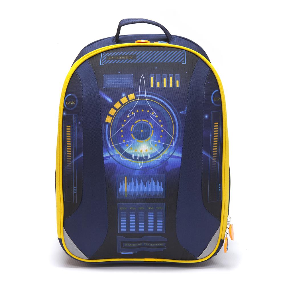 Рюкзак школьный, 38x30x20см, жесткий каркас, ЗВЕЗДНЫЙ ДЕСАНТ