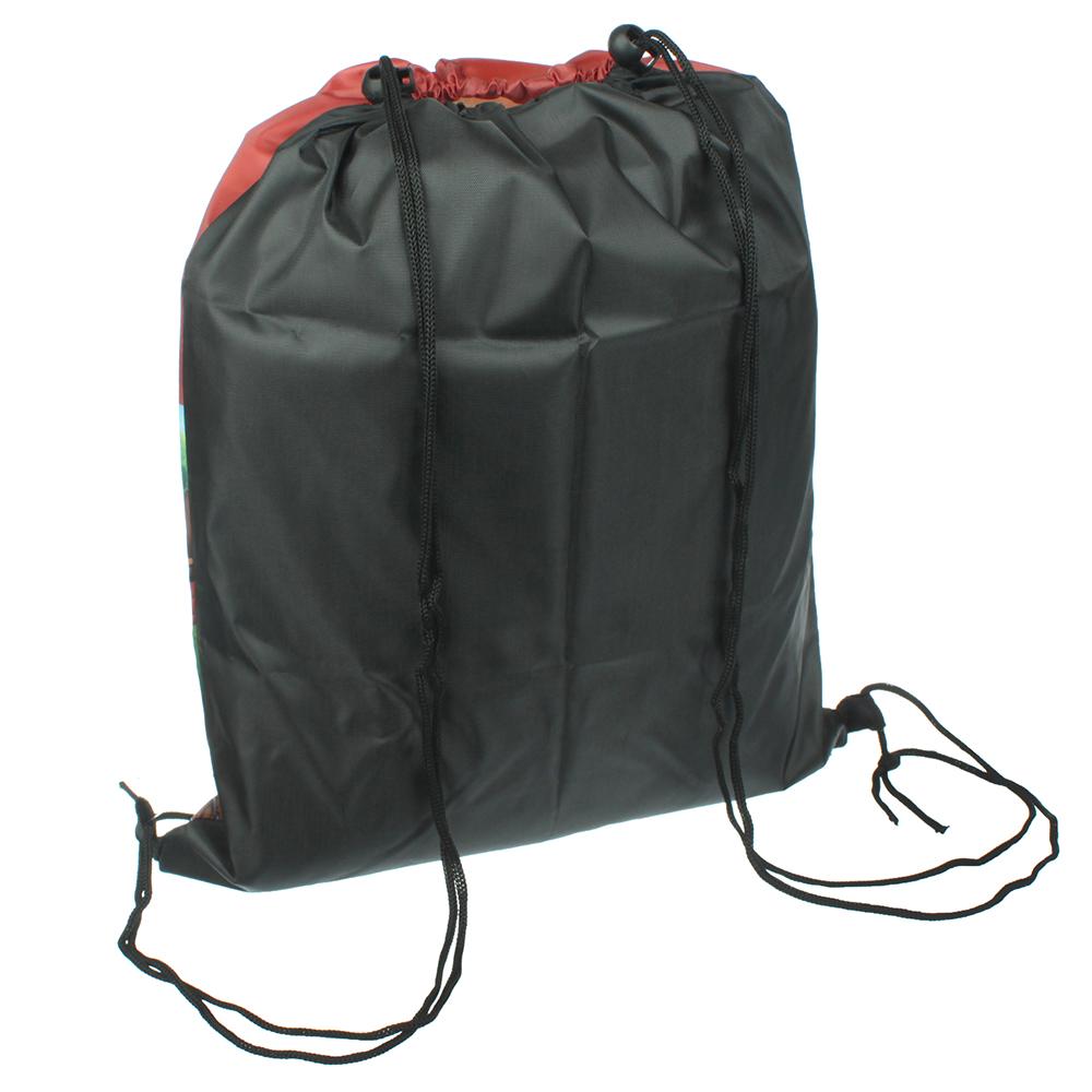 Мешок для сменной обуви, на завязках с фиксаторами 34,8x41,5 см, полиэстер, ТЕПЛОВОЗИК