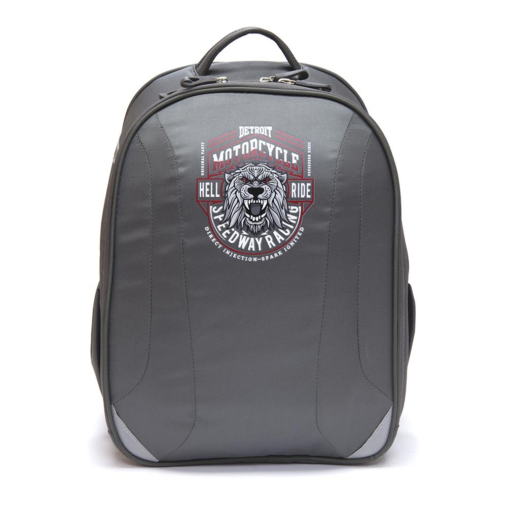 Школьный рюкзак для мальчика, 38x30x20см, жесткий каркас,  СПЕЙС МОТОЦИКЛ