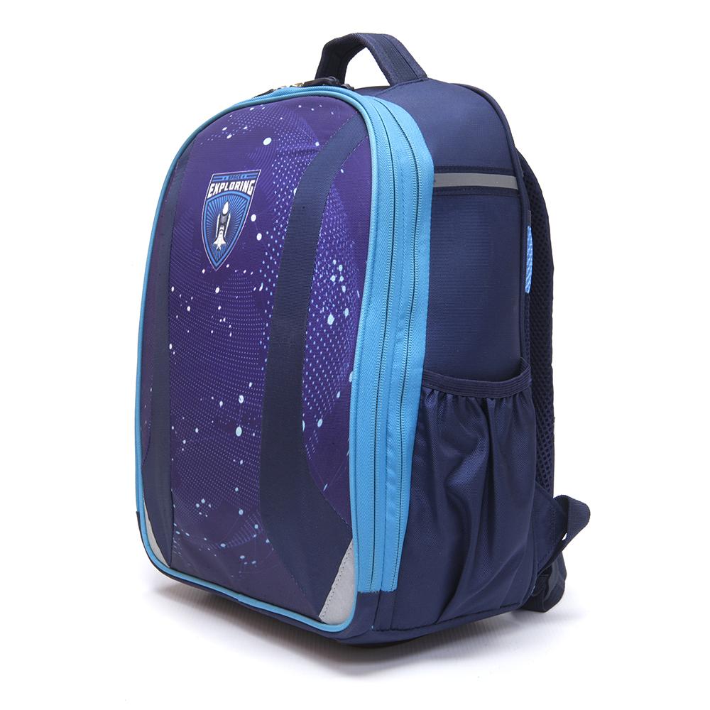 Школьный рюкзак для мальчика, 38x30x20см, жесткий каркас, СПЕЙС КОСМОС