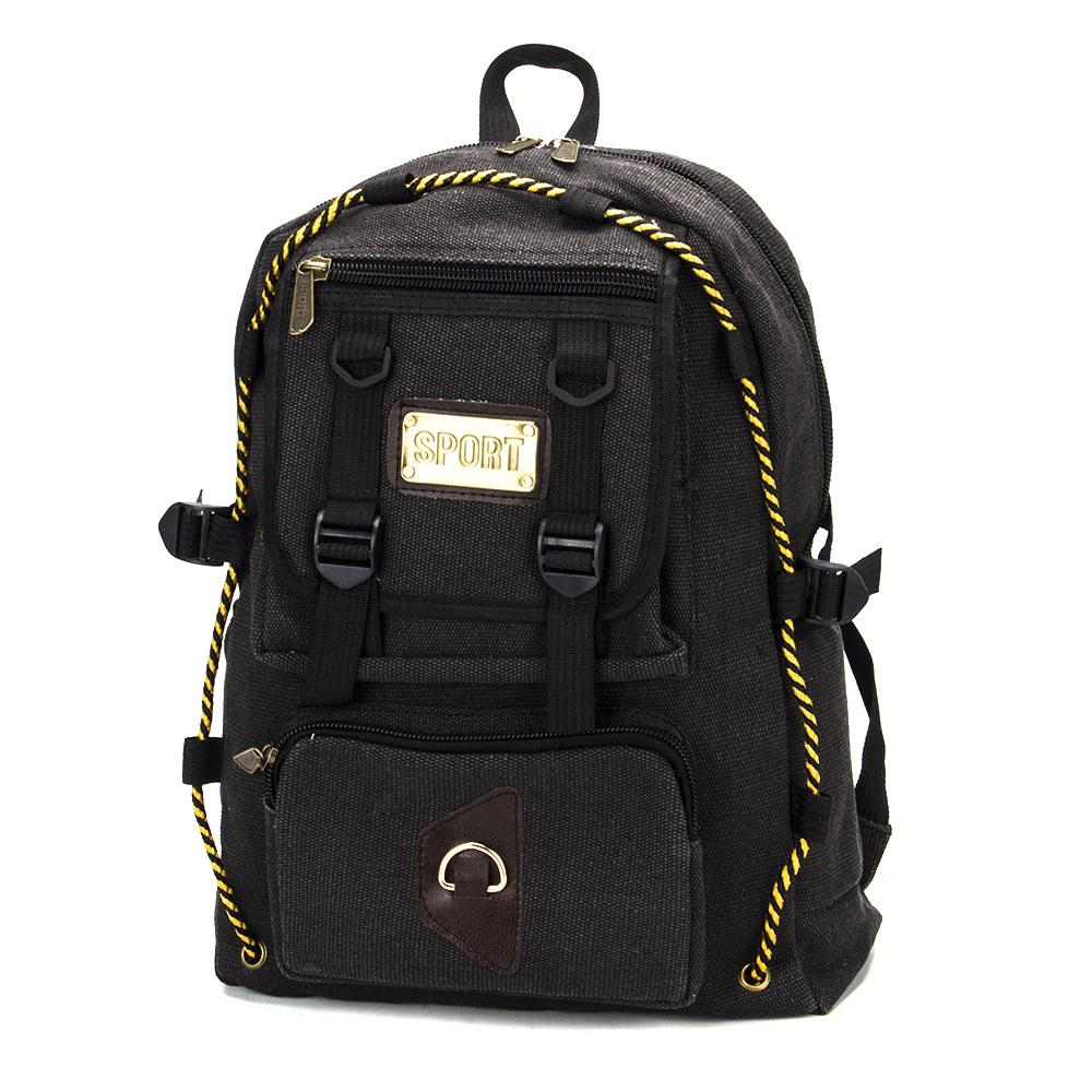 Рюкзак подростковый, 42x31x16см, ткань холст, серый