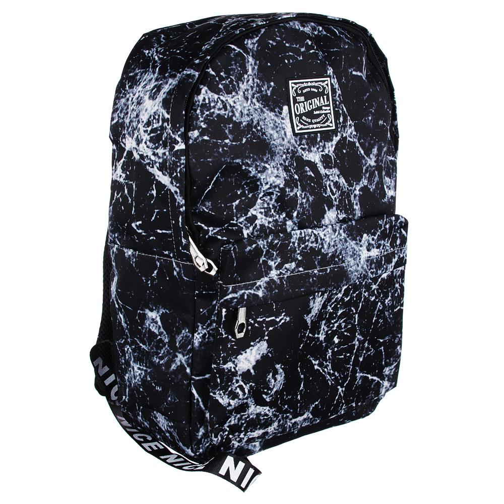 Рюкзак 45x32x15 см с 1 отделением, нейлон, серый с рисунком