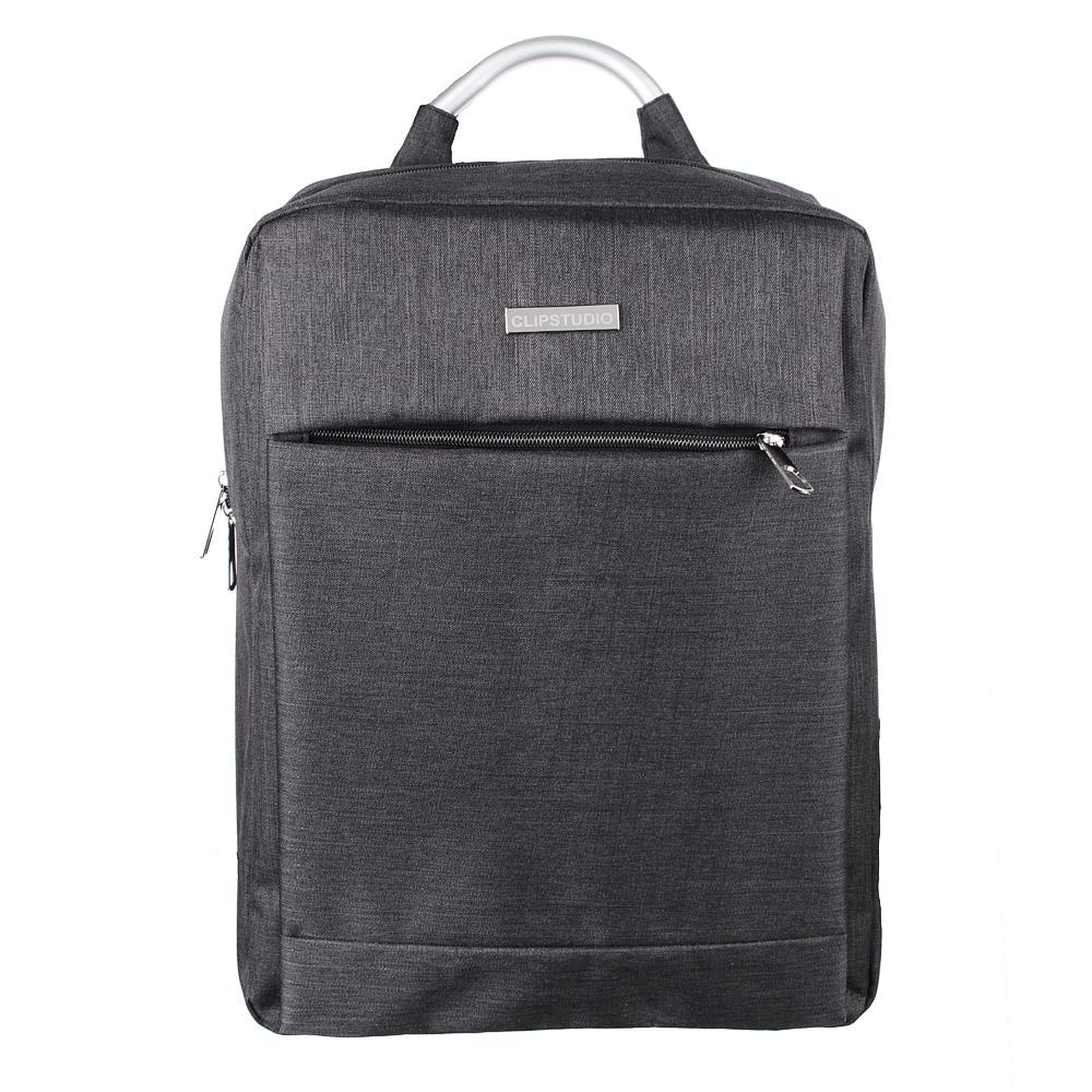 """Рюкзак 42x30x15 см с 1 отделением, полиэстер """"под ткань"""", черный"""